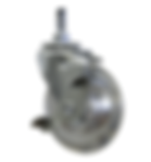 "# N200L- 3""dia, Clear Rubber Wheel , Locking Caster"