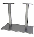 1705 - Double column flat rectangle base