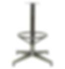 "4007 - Econo barstool X base, 15""foot ring"