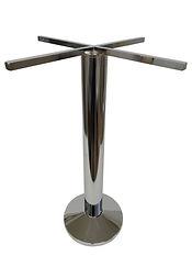 4014-W/501-CHR - Floor mount glass top base