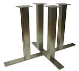 7024 - Flat end four column solid bar X base