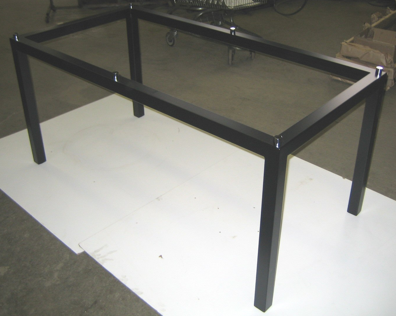 CUSTOM FRAME - GLASS TOP STAND-OFFS