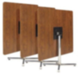 Flip top table bases