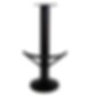 4005 - Floor mount barstool base, half round footring