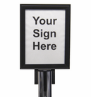 101 - Stanchion sign holder
