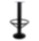 "4008 - Floor mount barstool base, 15"" footring, 10"" bell cover"