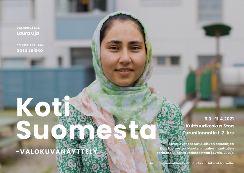 Koti Suomesta -valokuvanäyttely, 2021.