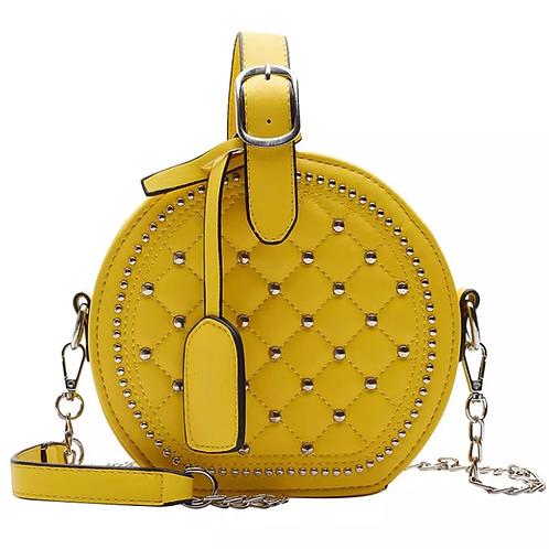 Yellow Stud Girl Bag