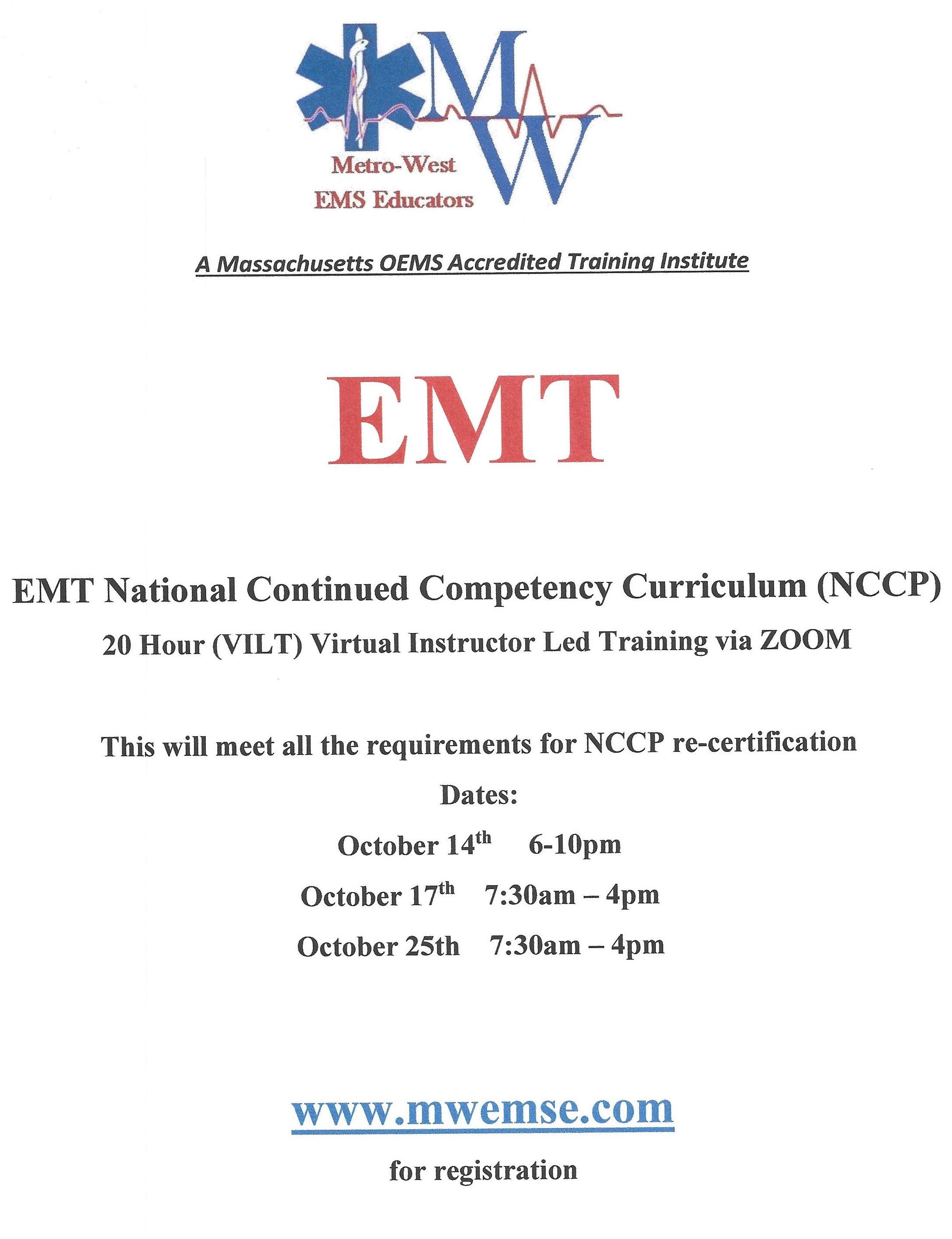 EMT NCCP Course