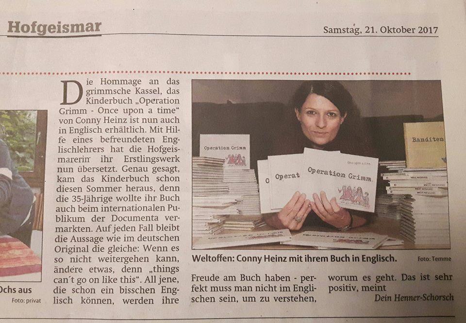 Schöner Bericht über Operation Grimm in der HNA!