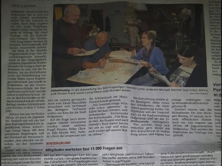 HNA-Artikel Jugendbefragung Kulturforum Hofgeismar