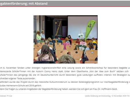 Bericht auf Homepage der GHS