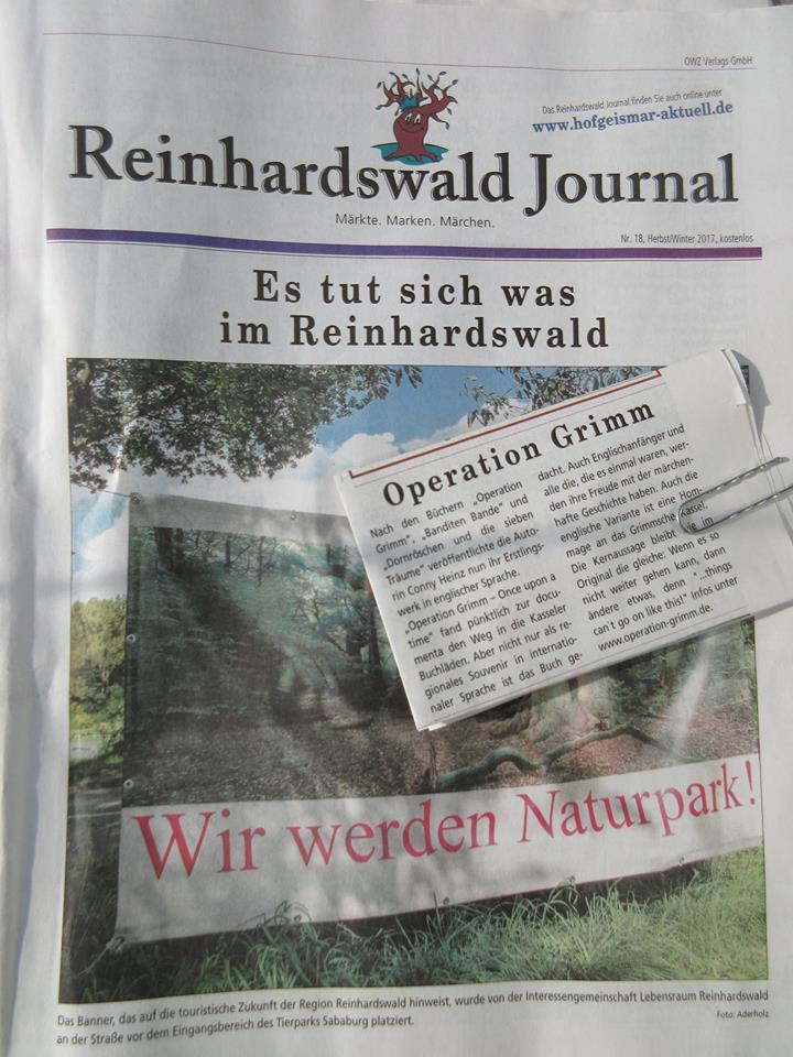 """Einen kurzen Bericht über das neue Buch """"Operation Grimm - Once upon a time"""" ist ab sofort in der aktuellen Ausgabe des """"Reinhardswald Journal"""" zu finden!"""