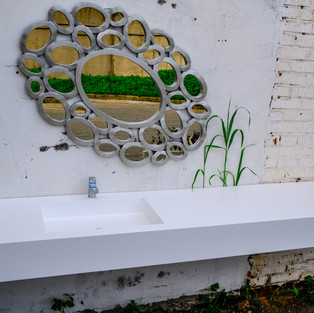 GAUDI Home. Прямоугольная раковина со столешницей по индивидуальному размеру.