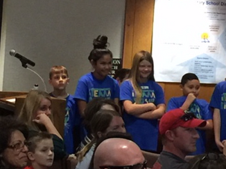 iTEAM KiDS from Sunrise Present to the District ONE School Board.
