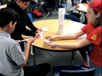 Teamwork and Thinking like engineers at Gila Vista Jr. High!
