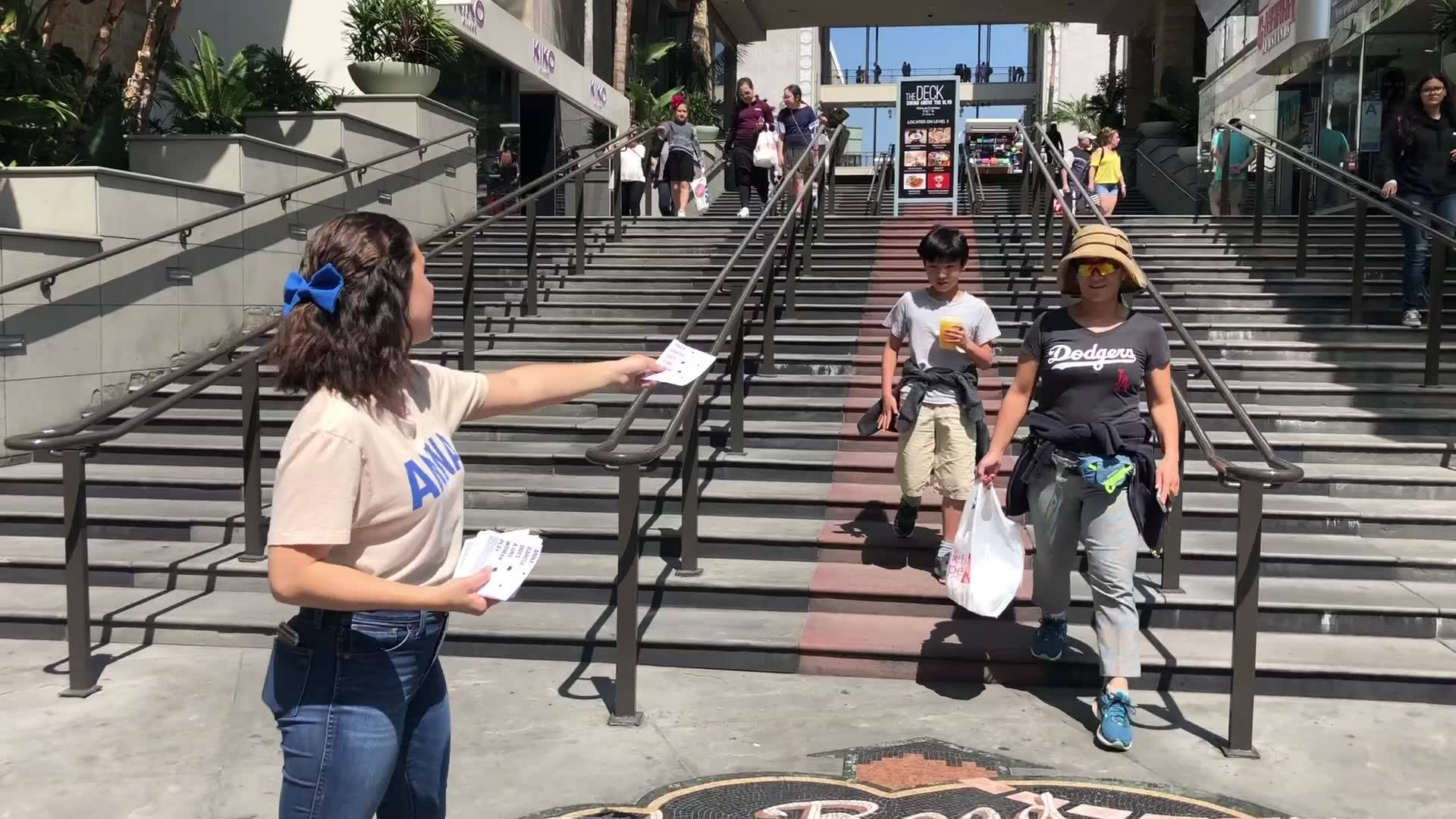 Anna Garcia Does a One Woman Promo in Hollywood