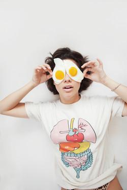 Eggs! Cool girl.