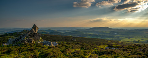 Views looking towards Corndon Hill from