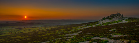 Amazing sunset views from Stiperstones,