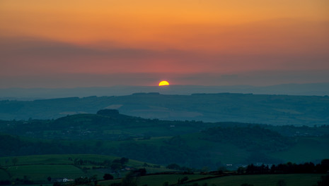 Sunset from Stiperstones
