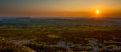 Warm sunset views from Stiperstones