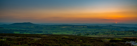 Last glimpse of the sun, Stiperstones, S
