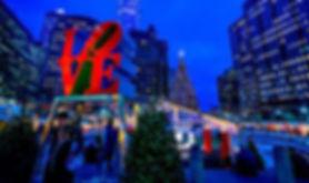 love park, philadelphia, Christmas, Village