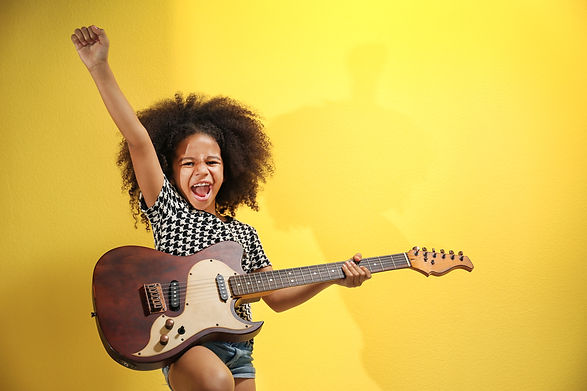 Afro-American little girl with curly hai