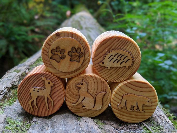 Woodland Animals Play Dough Stamp Set