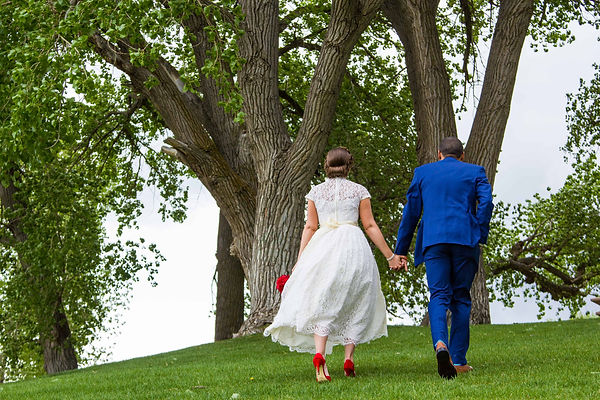 A wedding couple elopes in Utah with lus