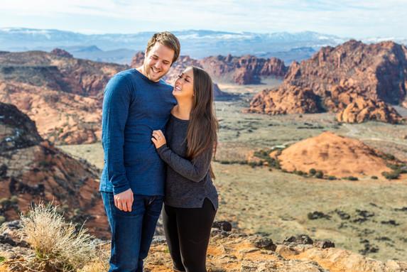 Snow Canyon Overlook Wedding Ceremony