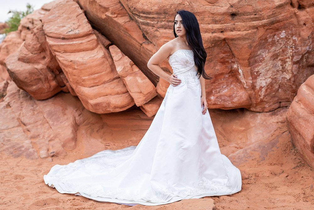 Married near St. George in a Gorgeous Dress!