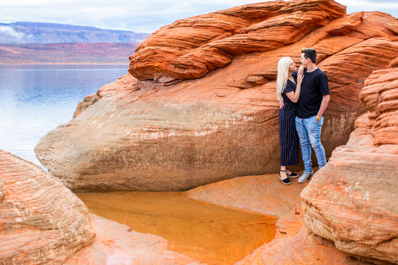 Sand Hollow Red Rock Wedding Ceremony