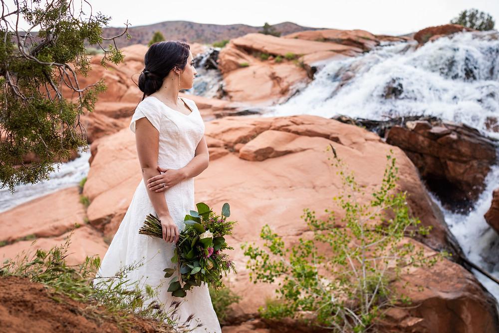 Wedding at Gunlock near Saint George Utah