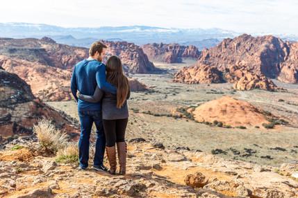 Snow Canyon Overlook Engagement Photoshoot