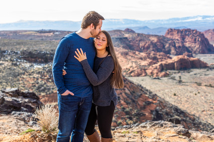 Snow Canyon Overlook Elope Southern Utah