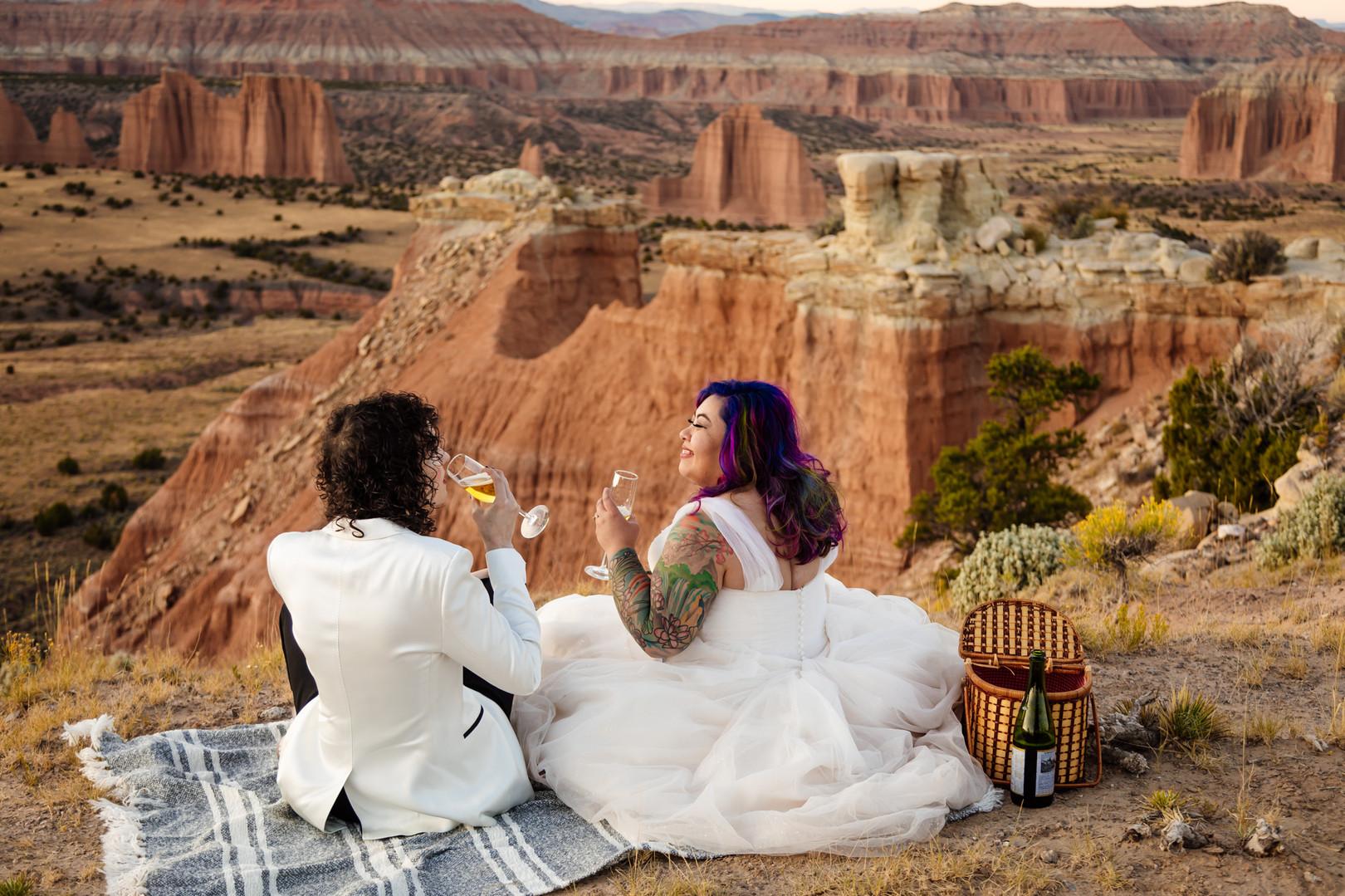 Elope Southern Utah Brides smile at each