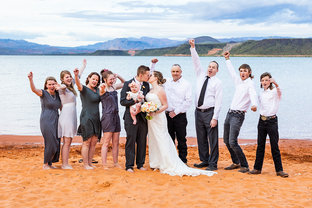 Southern Utah Elopement Sand Hollow Family Photo