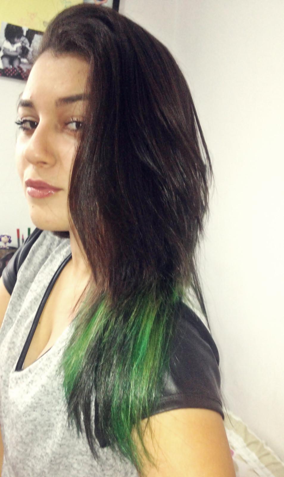 Há Meu cabelo  Verde