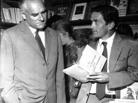 """22 marzo 1960 Pasolini e Moravia si sono intervistati a vicenda nel """"Lunedì letterario"""""""