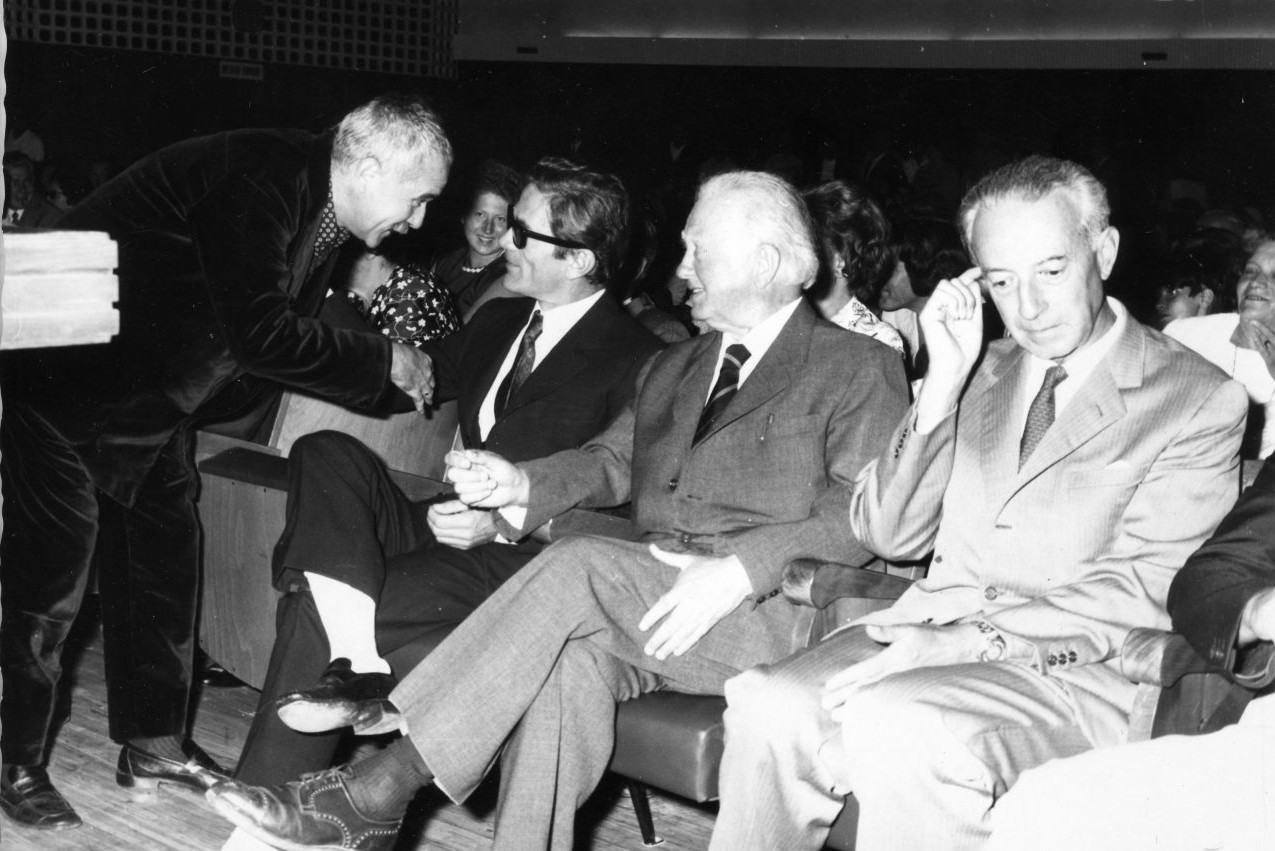 """Premier a Grado del film di Pasolini """"Porcile"""" (1969)"""