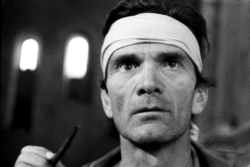Pier Paolo Pasolini sul set di 'Il Decameron' 1971