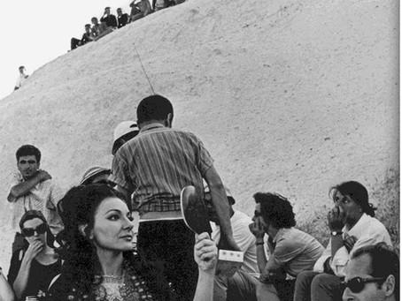 Cronaca delle riprese del film di Pier Paolo Pasolini,Medea. Maria Callas sul set.