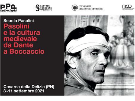 Scuola Pasolini 2021. Pasolini e la cultura medievaleda Dante a Boccaccio