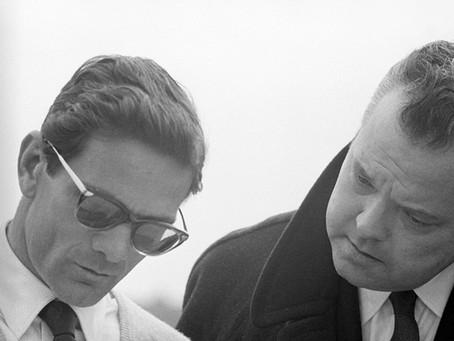 Orson Welles arriva a Roma per il film 'La ricotta' di Pasolini (1963)