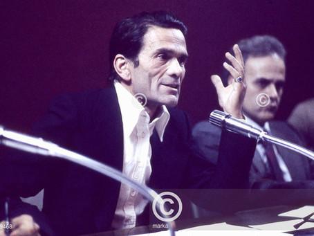 """Pier Paolo Pasolini al Circolo Turati di Milano (1972). """"Libertà d' espressione"""""""