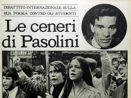 """1968. A dibattito la poesia di Pasolini """"Il PCI ai giovani!"""""""