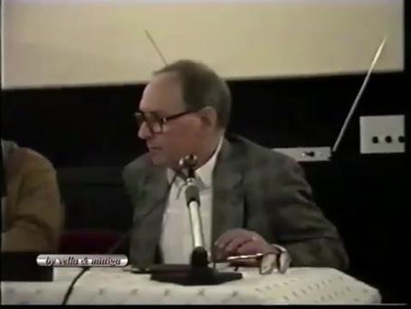 """Ennio Morricone legge il testo di Pier Paolo Pasolini """"La musica del film"""""""