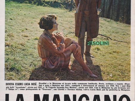 """Pasolini intervistato nel set di """"Teorema"""" (1968) racconta Silvana Mangano"""